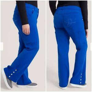 Jaanuu Plus Size Royal Blue Scrub Pants